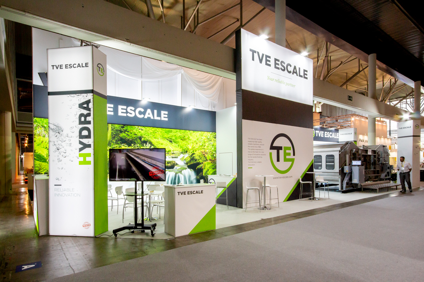 stand tve escale ITMA dextail